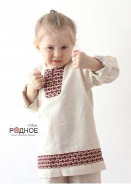 "Рубаха мальчиковая ""Петухи"""