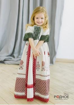 """Платье девичье """"Петухи 02"""""""