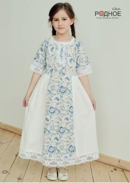 """Платье девичье """"Орепей голубой 03"""""""