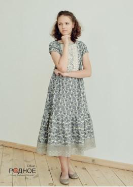 """Платье девичье """"Огурцы 04"""""""