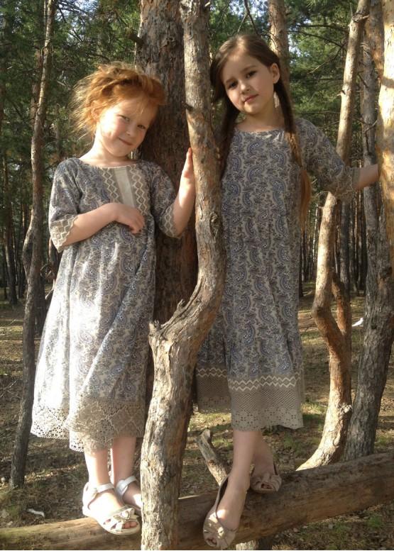"""Платье девичье """"Огурцы 02"""""""