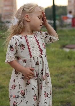 """Платье девичье """"Нежные бутоны 01"""""""