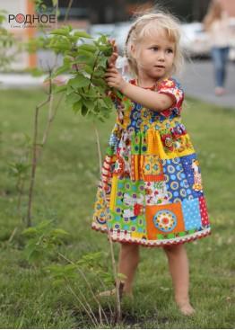 """Платье девичье """"Дымковская игрушка 01"""""""