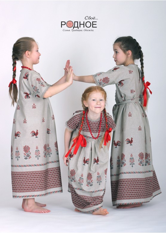 "Платье девичье ""Петушки 02"""