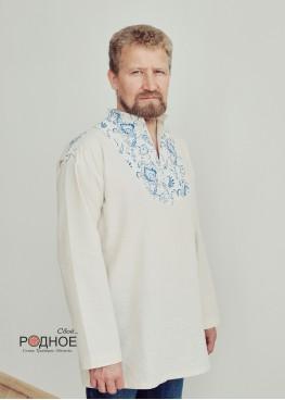 """Рубаха мужская """"Орепей голубой"""" с воротником-стойкой"""