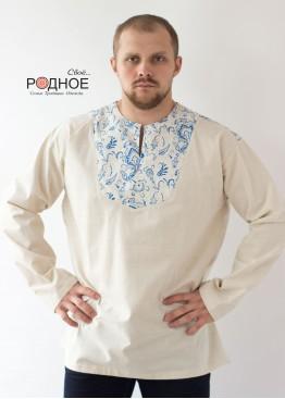 "Рубаха мужская ""Орепей голубой"""