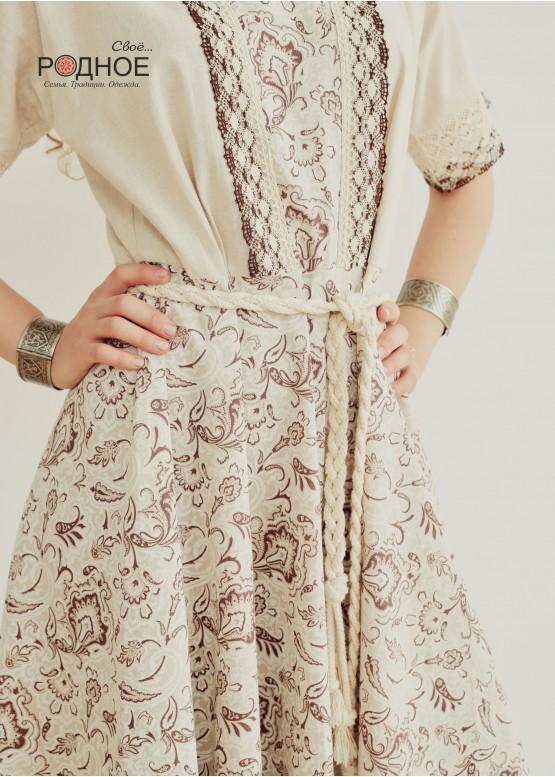 """Платье женское """"Орепей коричневый"""""""