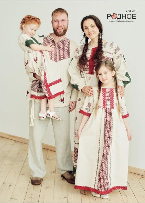 """Платье женское """"Петухи"""""""