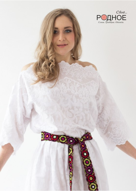 Пресветлая. Платье молочное